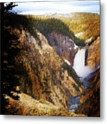 Waterfall Yellowstone 2 Metal Print
