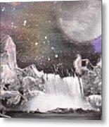 Waterfalls At Night Metal Print