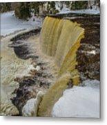 Waterfalls Upper Tahquamenon -6049 Pure Michigan Metal Print