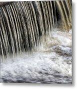 Waterflow Waterfall On A Small Creek Metal Print