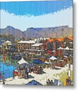 Waterfront And Table Mountain Metal Print by Jan Hattingh