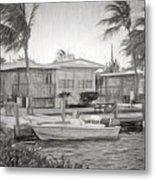 Waterfront Cottages At Parmer's Resort In Keys Metal Print