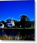 Waterfront Homes Mystic Seaport Metal Print