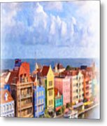Waterfront Houses Metal Print