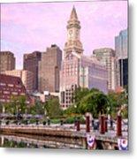Waterfront Park Pink Metal Print by Susan Cole Kelly