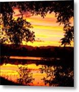 Waterfront Spectacular Sunset Metal Print