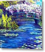 Waterlilly Bridge Metal Print