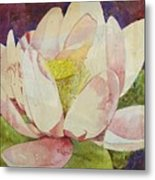 Waterlily Collage Metal Print