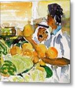 Watermelon Man Metal Print by Mike Shepley DA Edin