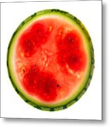 Watermelon Slice Metal Print