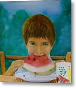 Watermelon Time Metal Print by Bruce Ben Pope
