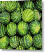 Watermelons At The Market Metal Print