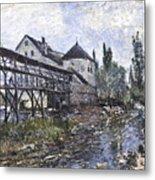 Watermill Near Moret Metal Print