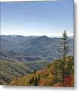 Waterrock Knob On Blue Ridge Parkway Metal Print