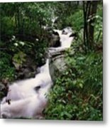 Watershed Gray Metal Print