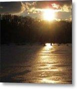 Watershed Sunset Metal Print