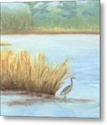 Waterside Metal Print