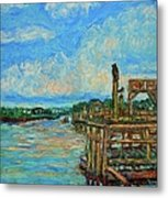 Waterway Near Pawleys Island Metal Print