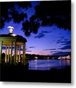 Waterworks At Night Metal Print by Andrew Dinh