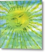Watery Sunshine Metal Print
