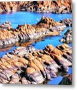 Watson Lake At Prescott Az Metal Print