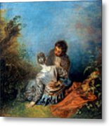 Watteau: False Step, C1717 Metal Print