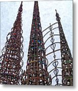 Watts Towers 2 - Los Angeles Metal Print
