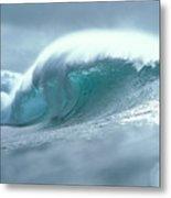 Wave And Spray Metal Print