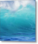 Wave And Windspray Metal Print by Vince Cavataio - Printscapes