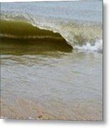 Wave At Sandbridge Virginia Metal Print