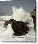 Wave At Shore Acres 2 Metal Print