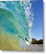Wave Breaking At Makena Metal Print