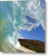 Wave Breaking Metal Print