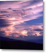 Wave Couds Over The Owens Valley Metal Print