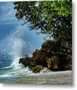 Wave Crashing Punta Cana Metal Print