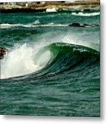 Wave Curl Metal Print