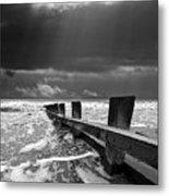 Wave Defenses Metal Print by Meirion Matthias
