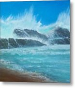 Wave Fury Metal Print