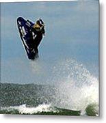 Wave Jumper Metal Print