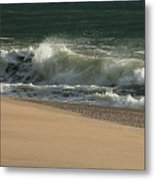 Wave Of Light - Jersey Shore Metal Print