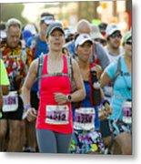 Wave Start At Pikes Peak Marathon And Ascent Metal Print