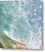 Wave Tube Along Shore Metal Print