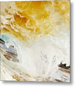 Wave Whitewash Metal Print