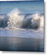 Waves Against The Wind Metal Print