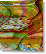 Waves And Patterns Metal Print