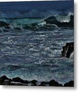 Waves And Wind Metal Print