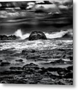 Waves At Dawn Metal Print
