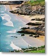 Waves Coming Ashore At Sybil Point Ireland  # 1 Metal Print