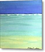 Waves Breaking At Sea Metal Print
