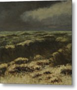 waves by Gustave Courbet Metal Print